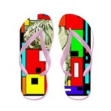 Tiger Abstract Flip Flops