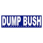 Dump Bush Blue Bumper Sticker