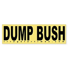Dump Bush Yellow Bumper Sticker