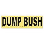 Dump Bush Yellow Bumper Sticker