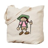Happy Hiker Girl Tote Bag