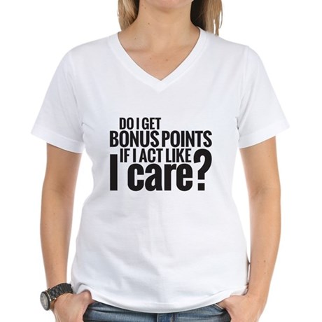 Bonus Points Women's V-Neck T-Shirt