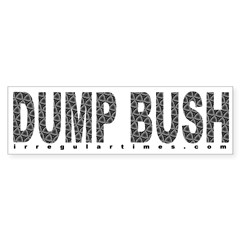 Dump Bush Swirls Bumper Sticker