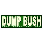 Dump Bush Green Bumper Sticker