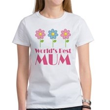 Mum (Worlds Best) Flowered Tee