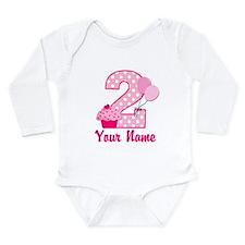 2nd Birthday Cupcake Onesie Romper Suit