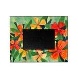 Tropical Flowers Splash Picture Frame