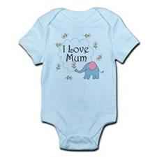 I Love Mum Cute Infant Bodysuit