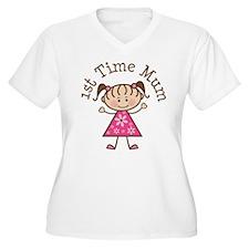 1st Time Mum Stick Figure T-Shirt