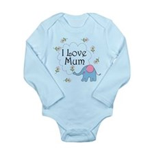 I Love Mum Cute Long Sleeve Infant Bodysuit