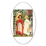 Snow White & Rose Red Sticker (Oval 50 pk)