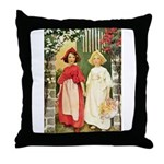 Snow White & Rose Red Throw Pillow