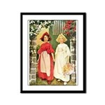 Snow White & Rose Red Framed Panel Print