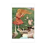 The Goose Girl Sticker (Rectangle 50 pk)