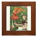 The Goose Girl Framed Tile