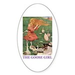 The Goose Girl Sticker (Oval 50 pk)