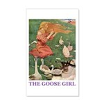 The Goose Girl 35x21 Wall Decal