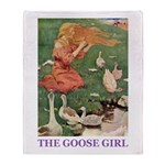 The Goose Girl Throw Blanket