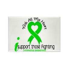 With All My Heart Lymphoma Rectangle Magnet (10 pa
