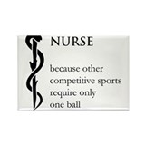 Nurse Because... Rectangle Magnet