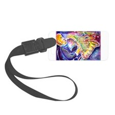 Music! Fun, colorful, sax! Luggage Tag