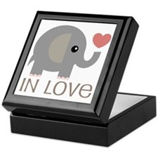 Couples In Love Elephant Keepsake Box