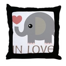Dating In Love Elephant Throw Pillow