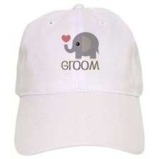 Groom Wedding Elephant Baseball Cap