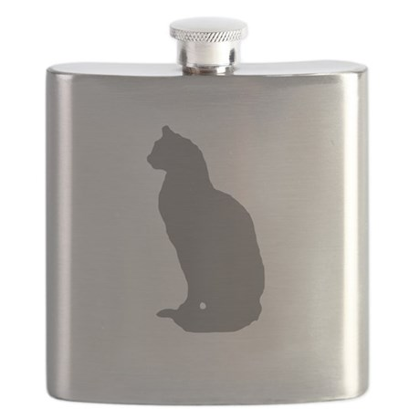 Grey Cat Flask