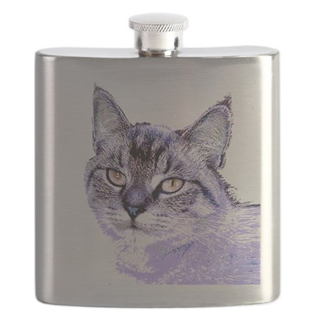 Purple Cat Flask