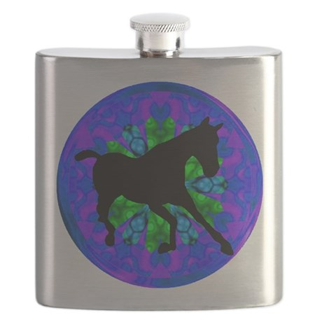 Kaleidoscope Horse Flask