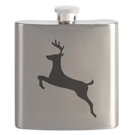 leaping deer Flask