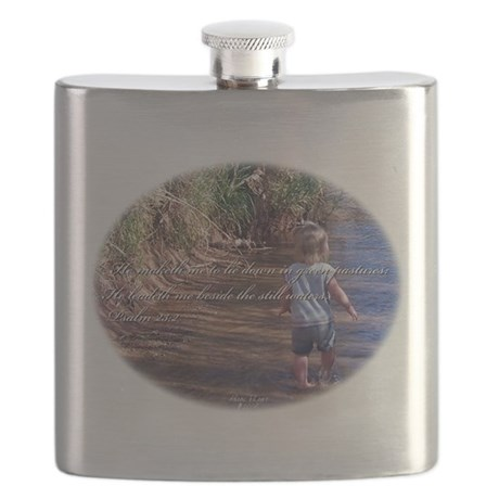 Wading Psalms 23:2 Flask