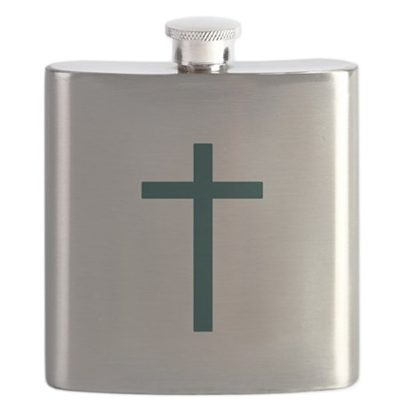Blue Green Cross Flask
