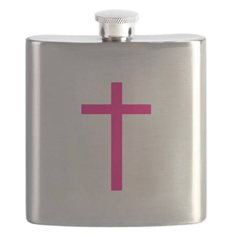 Pink Cross Flask