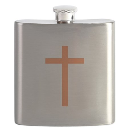 Orange Cross Flask