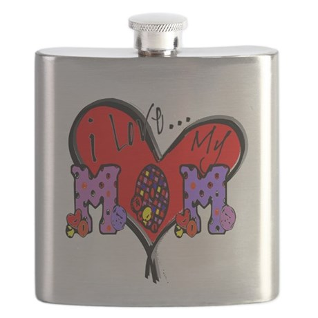 I Love My Mom Flask