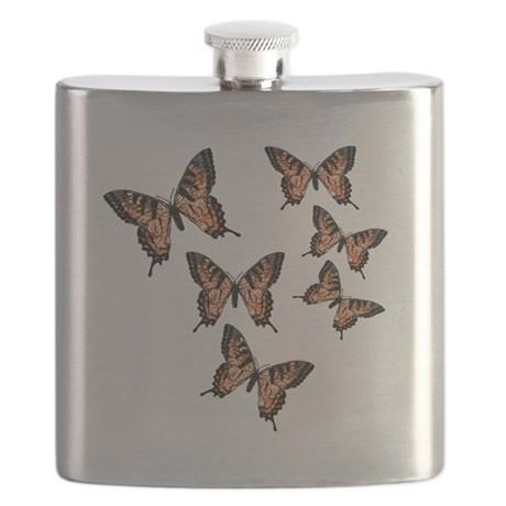 Orange Butterflies Flask