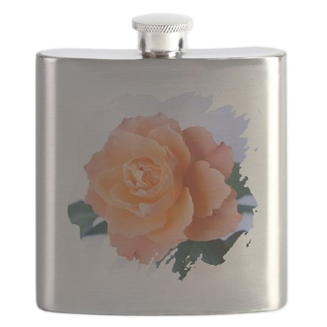 orange rose Flask