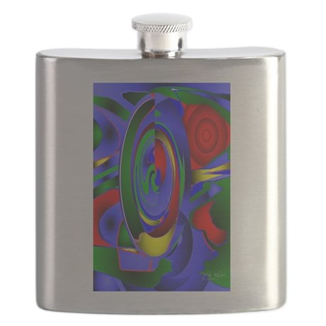 Abstract 001 - tall Flask