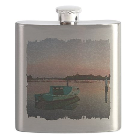 Sunset Boat Flask