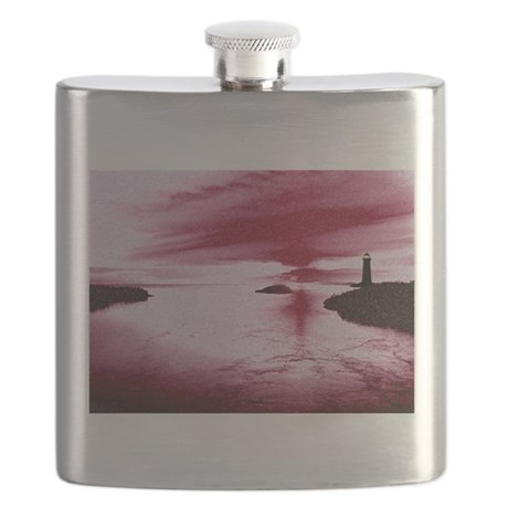 Lighthouse Sunset Flask