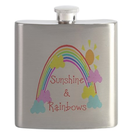 rainbow sunshine Flask