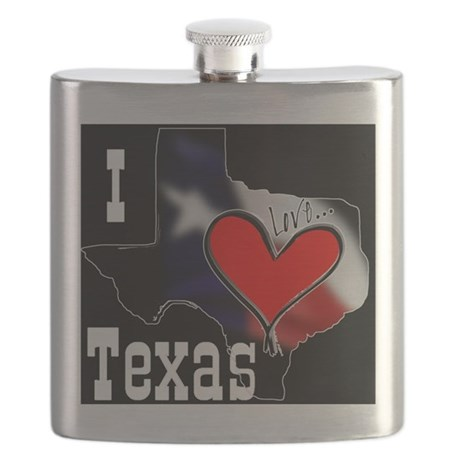 I Love Texas Flask