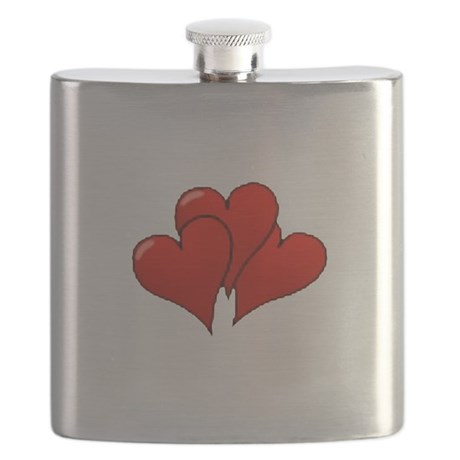 three hearts Flask