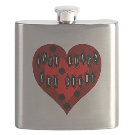 Bullet Hole Heart Flask