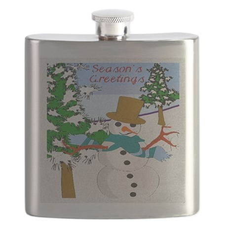 Seasons Greetings Flask