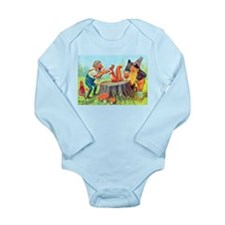 Gnomes Examine a Friendly Squirrel Long Sleeve Inf