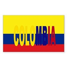 Colombia tricolor Rectangle Decal
