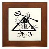 SEAL Team 3 Patch B-W Framed Tile